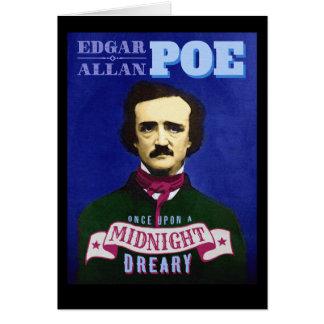 Edgar Allan Poe Raven Quote and Portrait Card