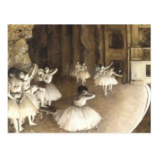Edgar Degas | Ballet Rehearsal | New Address Postcard