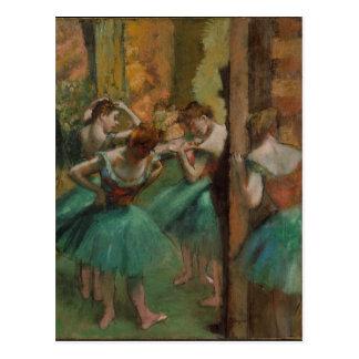 Edgar Degas Dancers Pink and Green Postcard