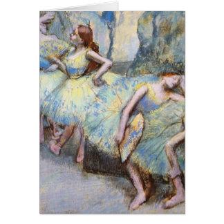 Edgar Degas Danseuses dans les coulisses Card