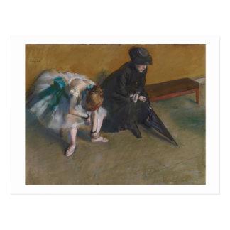 Edgar Degas | Waiting | New Address Postcard