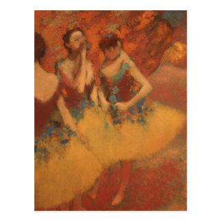 Edgar Degas | Yellow Skirts | New Address Postcard