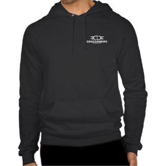 EDGE White Logo Front&Back Hoodie