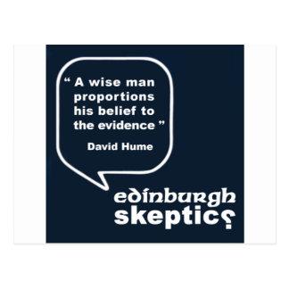 Edinburgh Skeptics - Hume Quote Postcard