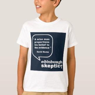Edinburgh Skeptics - Hume Quote T-Shirt