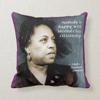 Edith Sampson: African-American citizenship Throw Pillow