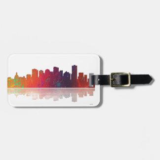 Edmonton Canada Skyline Bag Tag