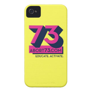 Educate Activate Abort73 com iPhone 4 Case-Mate Cases