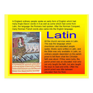 Education, History, Medieval use of Latin Post Card