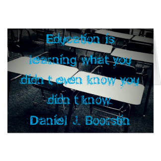Education Quote Card, w/white envelopes included Card