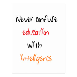 Education quote postcard