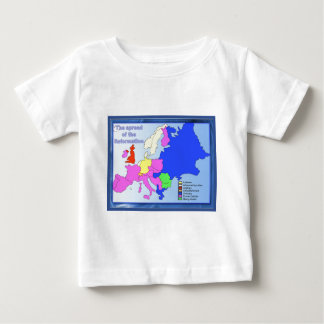 Education, Religion, Reformation Europe, map Baby T-Shirt