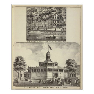 Educational Hall, Asbury Park and River View House Poster