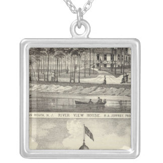 Educational Hall, Asbury Park and River View House Silver Plated Necklace