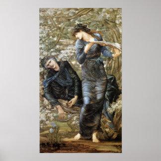 Edward Burne-Jones Beguiling of Merlin Poster
