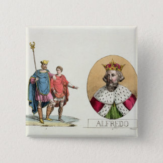 Edward the Confessor and King Alfred, plate 7 from 15 Cm Square Badge