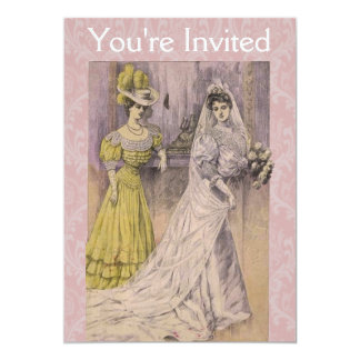Edwardian Vintage Bride Personalized Invitations
