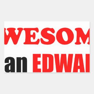 Edwards Awesome Family Rectangular Sticker