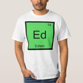 Edwin Name Chemistry Element Periodic Table T-Shirt