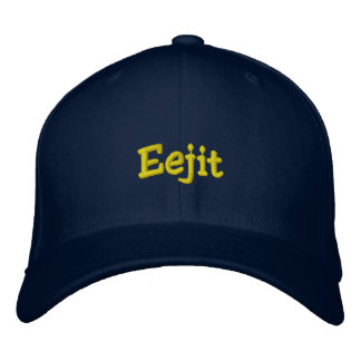 """Eejit"" Cap (Dark) Embroidered Baseball Caps"