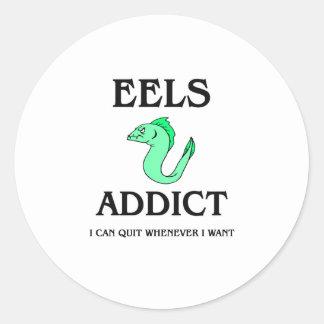Eels Addict Classic Round Sticker