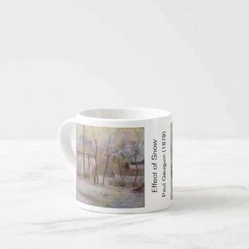 Effect of Snow - Paul Gauguin (1879) Espresso Cup