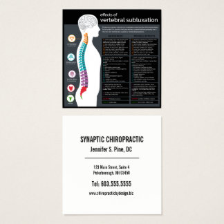 Effects of Vertebral Subluxation Chiropractor Square Business Card
