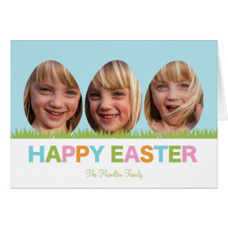 Egg Frames Easter Photo Card