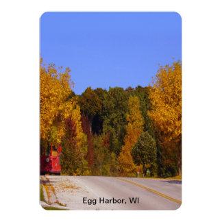 Egg Harbor, WI Fall Season with Trolley Car Card