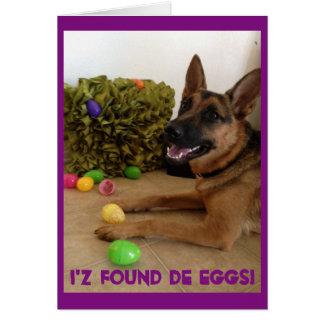 Egg hunter card