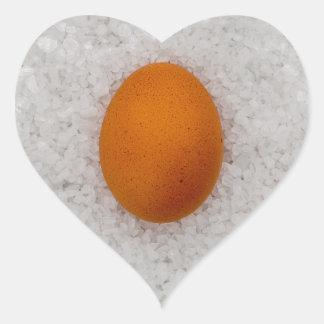Egg with salt heart sticker