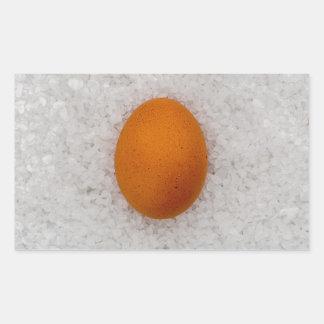 Egg with salt rectangular sticker