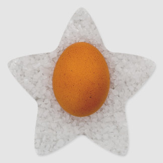 Egg with salt star sticker