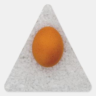 Egg with salt triangle sticker