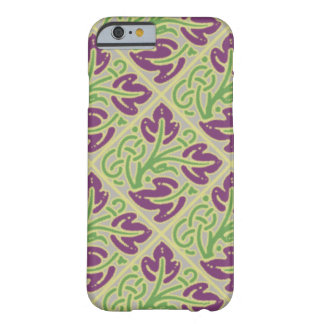 Eggplant Colored Leaf Pattern Barely There iPhone 6 Case