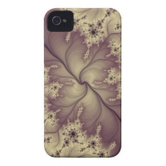 eggplant feather fractal iphone case