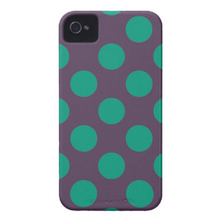 Eggplant Green Polkadots iPhone 4 Covers