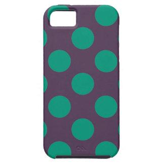 Eggplant Green Polkadots iPhone 5 Cases