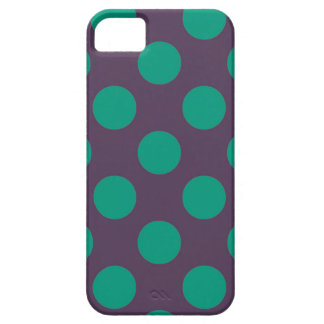 Eggplant Green Polkadots iPhone 5 Cover