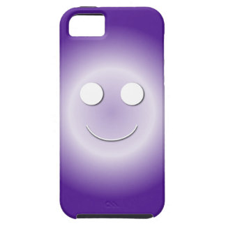 Eggplant Happy Face Glow Tough iPhone 5 Case