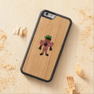 Eggplant monster carved cherry iPhone 6 bumper case