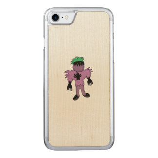 Eggplant monster carved iPhone 7 case