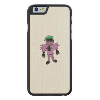 Eggplant monster carved® maple iPhone 6 slim case