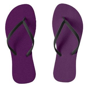 Eggplant Purple Solid Colour Jandals
