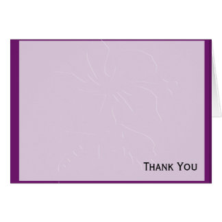 Eggplant Tone on Tone Hibiscus Card