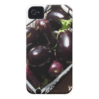 Eggplants in box on white background Case-Mate iPhone 4 cases