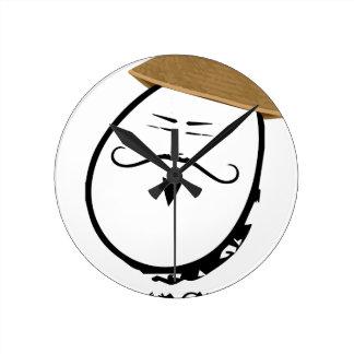 Eggzachary Round Clock