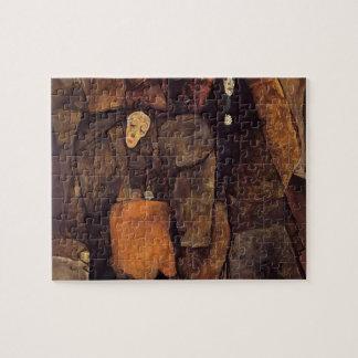 Egon Schiele- Procession Jigsaw Puzzle