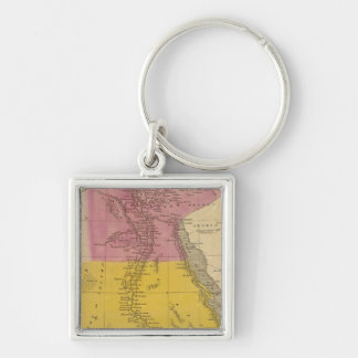 Egypt 11 Silver-Colored square key ring