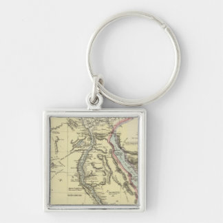 Egypt 13 Silver-Colored square key ring